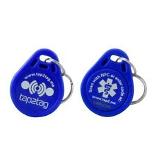 Tap2Tag Medical Alert Blue Key Fob (Scan with NFC)