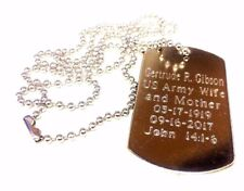 2 Personalized Engraved Dog tag, Military Dog tag, Groomsmen Gifts, Army dog tag