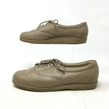 SAS Tripad Comfort Oxford Sneakers Casual Shoes Lace Up Leather Beige Womens 6 M