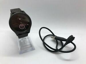 Garmin vívomove Style 42mm Graphite Aluminum Case with Black Pepper Woven Nylon
