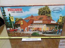 Vollmer h0 5606 Vintage Plastik Kit Ferrari Tankstelle Made in Germany selten