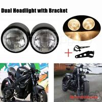 Motorcycle Twin Dual H4 Headlight Bracket For Streetfighter Dirt Bike Cafe Racer