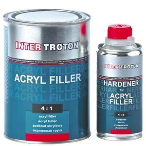 Grundierung 2K Acryl Füller Troton Primer HS 4:1 1L Weiß Grundierfüller Härter