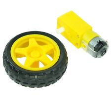 Tt Motor With Getriebebox And Tyres 3 6vdc 200rmp Eg For Arduinoraspberry Pi