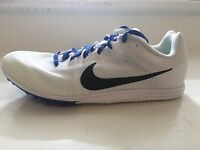 Nike Zoom Rival D 9 Distance Track Spikes Men's Flywire White MSRP $65 NEW