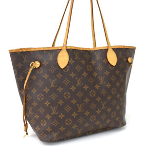 Auth LOUIS VUITTON Monogram Neverfull MM M40156 Tote Bag Brown Canvas AD0688