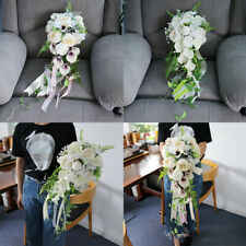 Romantic Bridal Calla Holding Bouquet Handmade Hand Tied Flower Wedding