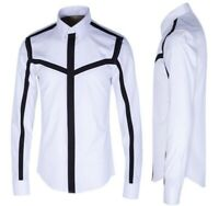 Mens Lapel Collar Leisure Occident T-Shirt Occident Spring Slim Fit Tops Cotton