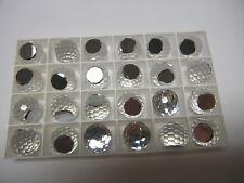6 swarovski crystal 3/4 flatback disco balls,16mm comet argent light VZ #4861