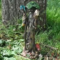 Tall Tree Ent with Staff & Owl Greenman Decorative Garden Myth Sculpture 39685