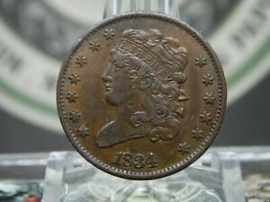 1834 Classic Head Half Cent 1/2c #1  East Coast Coin & Collectables, Inc.