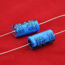10pcs Axial Electrolytic Capacitor 10uf 500V Tube Amp DIY