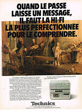 PUBLICITE ADVERTISING  1980   TECHNICS  hi-fi la mini- série