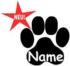 Aufkleber Sticker Hundepfote Katzenpfote Hund Katze Pfote mit Namen