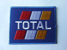 IRON ON PATCH: b FUELS RED BLOCK TOTAL MOTORSPORTS RACING TYRE SEW ON