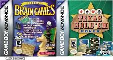 Ultimate Brain Game & Texas Hold Em GameBoy Advance NEW