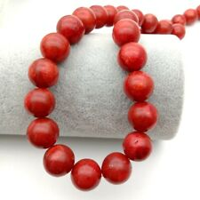 12mm Red Coral Sponge coral round gemstone beads Strands 15""