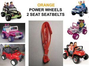 DYNATRAX ORANGE JEEP Seat Belt SET ALSO FITS Power Wheels 2 SEAT JEEPS