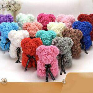 Artificial Rose Teddy Bear Flower Bouquet Valentine Birthday Wedding Gift