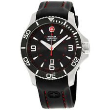 Wenger Swiss Military Seaforce Black Dial Silicone Strap Men's Watch 010641216S