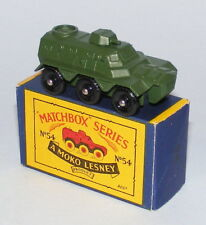 MATCHBOX #54a SALADIN ARMOURED PERSONNEL CARRIER RARE EARLY CASTING MINT BOXED