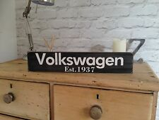 Vw Volkswagen Vintage Old Look Sign  Wood Plaque Beetle Camper Gift Hand Painted