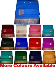 Beautiful Indian Handloom Art Silk Saree Sari Zari Buti Work + Blouse Piece CPR