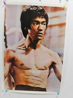 1974 ORIGINAL UNCUT BRUCE LEE  ENTER THE DRAGON  POSTER 20 1/2 X 30 1/2  SEE PIC