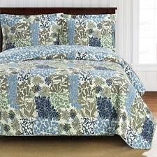Elena Oversized Coverlet Set Luxury Microfiber Printed Quilt Modern Bedspread