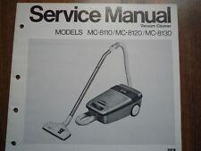 Vintage Nacional Aspiradora Panasonic MC-8110 Manual De Servicio diagrama de cableado