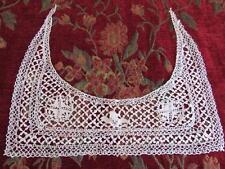 Antique Vtg Very Fine Maltese Bobbin Lace SILK Collar