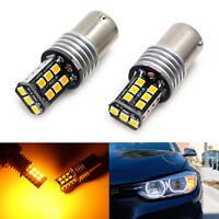 2x Amber Yellow Turn Signal Light LED Bulb BA15S 7507 for BMW 1 2 3 4 Series X3
