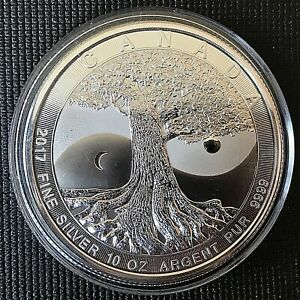 "Canada 2017 $50 ""Tree of Life"" Brilliant Uncirculated 10 oz .999 Silver Coin"
