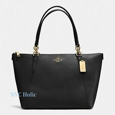 New Coach F35808 F57526 Ava Tote In Crossgrain Leather Black NWT