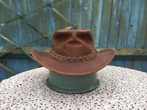 RYDALE - Australia - Brown Leather - Bush Hat - M