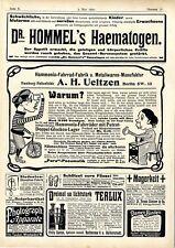 Hammonia-Fahrrad-Fabrik HH F.Saran Rathenow/Halberstadt Telux Prismengläser 1906