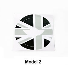 Grey Union Jack Car Steering Wheel Sticker Logo Cricle Decal Fit For Mini Cooper