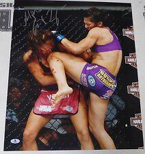 Cat Zingano Signed 16x20 Photo BAS COA UFC Picture TUF 17 Finale vs Miesha Tate
