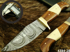SUPERB QUALITY HANDMADE DAMASCUS STEEL HUNTING BOWIE KNIFE W/SHEATH (4384-28