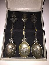 3 Original Silver Spoons 1974-Gift at the WC1974 from KNVB to DFB-Rarity! 10 p.!