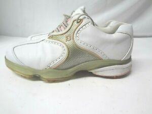 Footjoy Dryjoys Women's White Leather Golf Shoes Flex Zone Size 7.5 M
