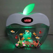 FISH TANK AQUARIUM USB MINI  LED LIGHT LCD DISPLAY AND CLOCK  FREE SHIPPING