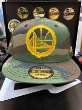 New Era Golden State Warriors NBA Spray Paint Camo 9Fifty Snapback Hat Cap