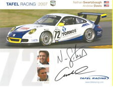 2007 Tafel Racing #72 Porsche 911 GT3 Cup signed Grand Am postcard