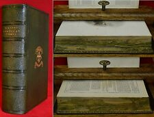 MILTON'S 1862 FORE EDGE DOUBLE PAINTINGS LANDSCAPE CASTLE TURNER SIGNED BINDING