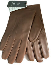 M & S Mens THERMOWARMTH LEATHER GLOVES SIZE LARGE, BROWN , BNWT FREE POSTAGE