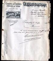 "COMMENTRY (03) FARINES GRAINS POMMES de TERRE CHAUX ""FAYOL Gilbert"" en 1910"