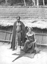 CONGO. A Bateke chief; Stanley Pool; hinterland Tshumbiri 1900 old print