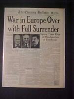 VINTAGE NEWSPAPER HEADLINES ~WORLD WAR 2 GERMANY REICH NAZI SURRENDER WWII 1945