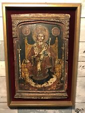 Antique Russian / Greek Orthodox Icon of Jesus Christ